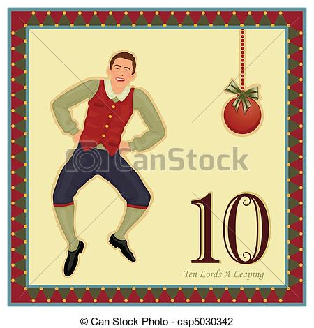 ... Clipartby Eireann42/977; The 12 Days of Christmas - 10-th Day - Ten Lords A Leaping.