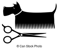 Clipartby happymay0/2; isolated grooming dog - isolated black grooming dog... ...