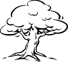 Cliparti1 Tree Clipart Black . Apple tree vector art Free .