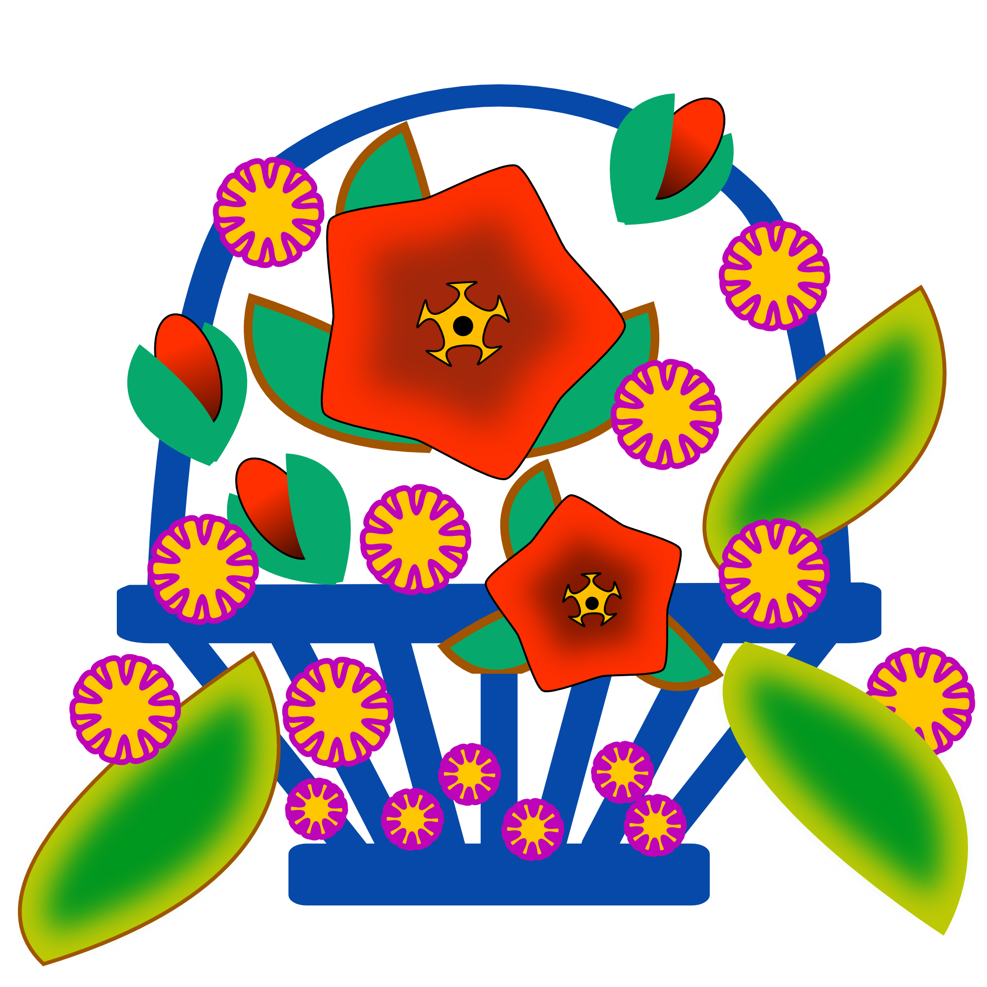 Clipartist Net Clip Art Flower Basket September 2011 Clip Art