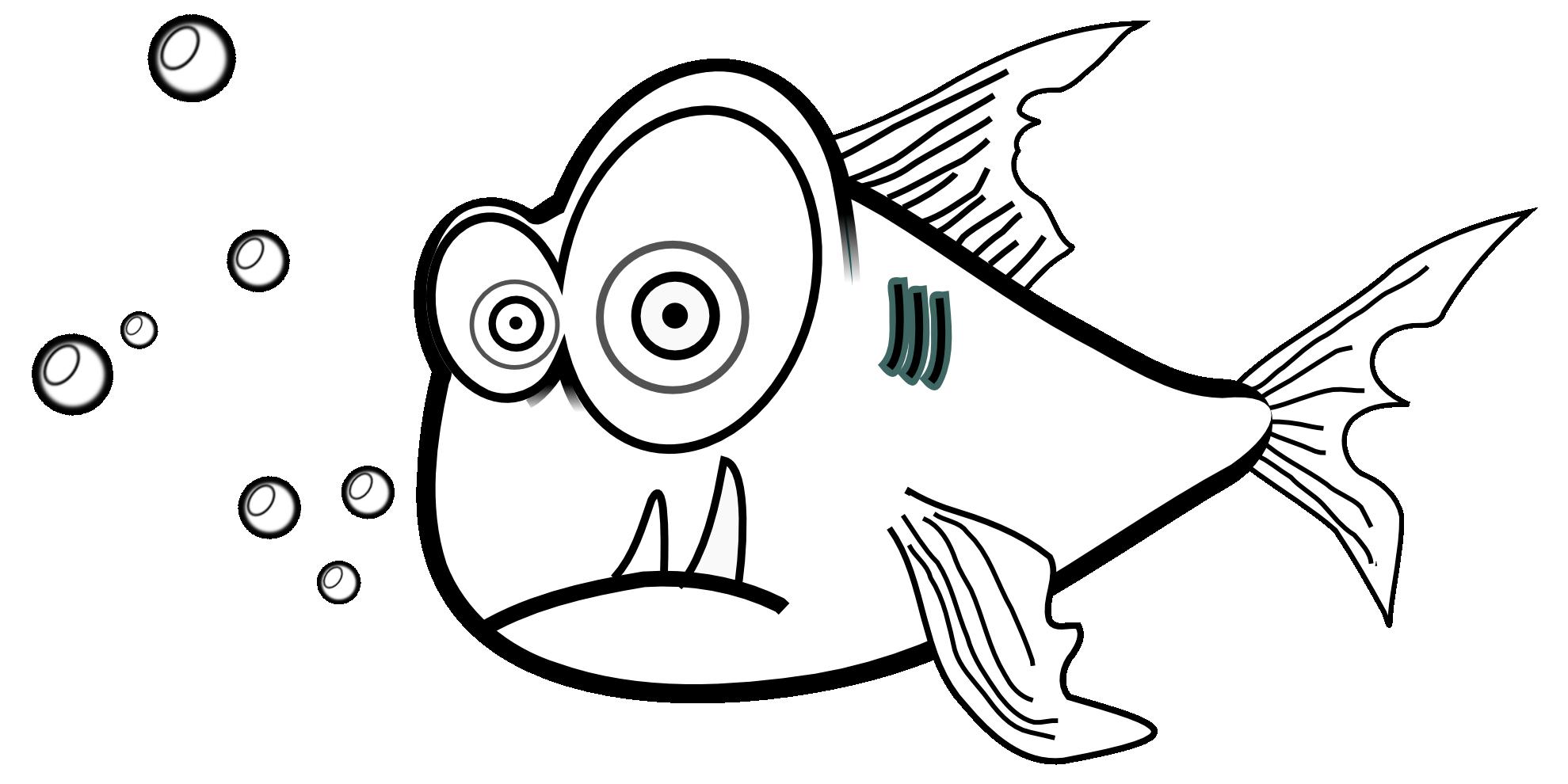 clipartist clipartall.com » Clip Art » piranha black white line liakad super