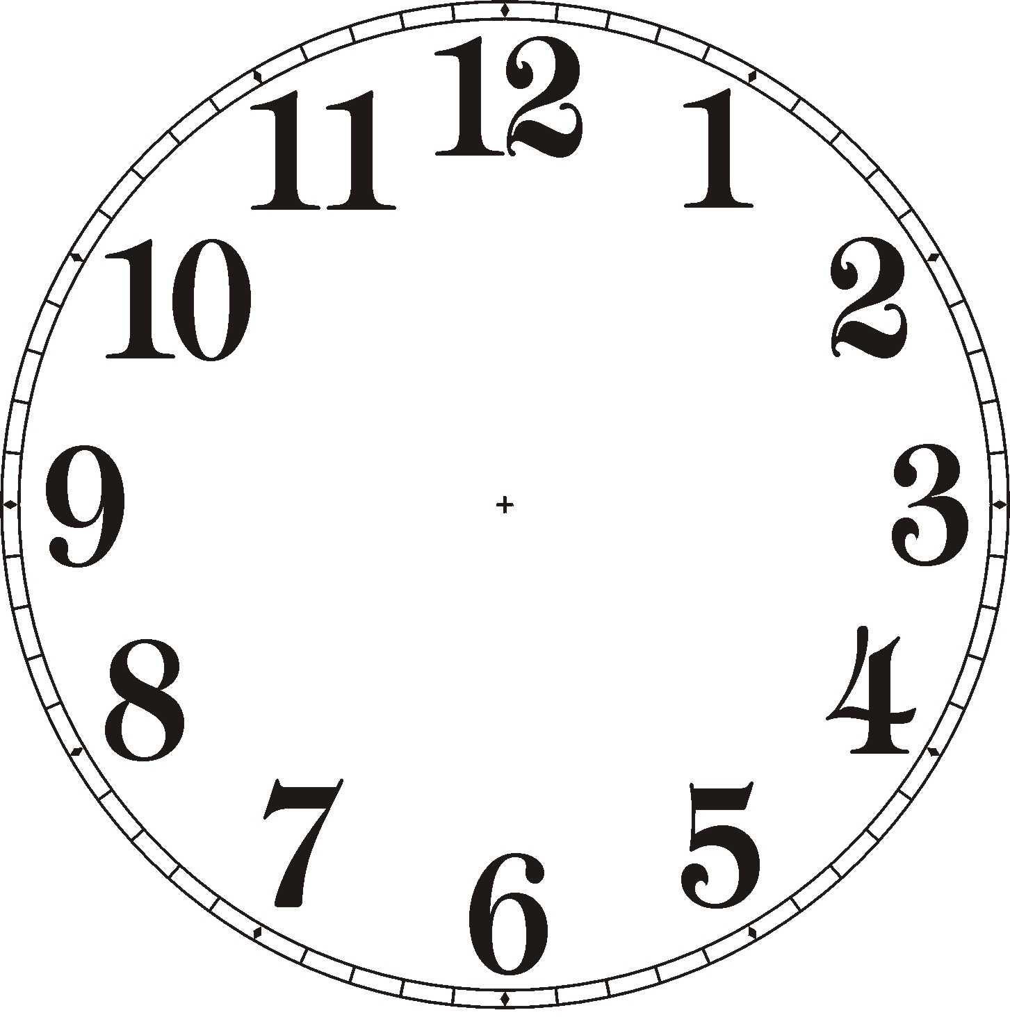 clock clipart. blank clock% .