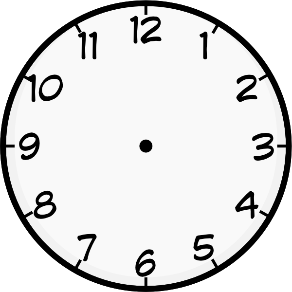 clock template printable | Purzen Clock Face clip art - vector clip art  online, royalty