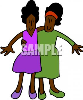 Closeness Clipart 0511 1007 0517 5422 Ethnic Twin Sisters Clipart