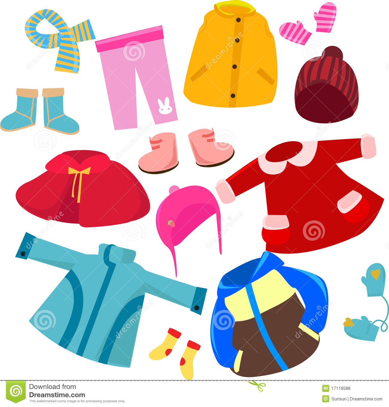 Clip Art Of Different Clothes Clipart
