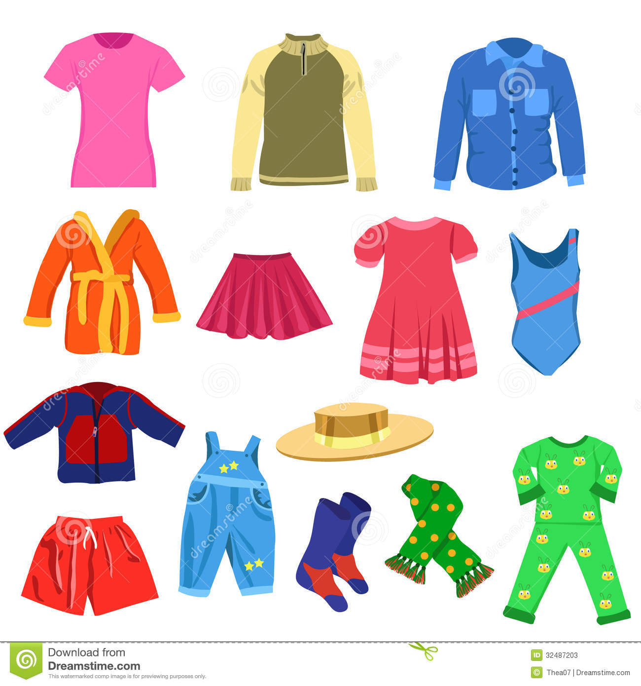 Fall clipart clothes for kid #1