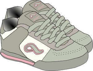 Clothing Shoes Sneakers Clip Art