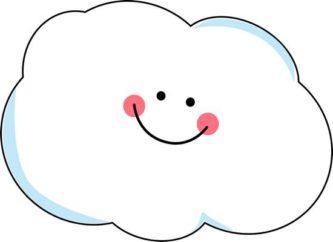 Cloud clipart cute #7