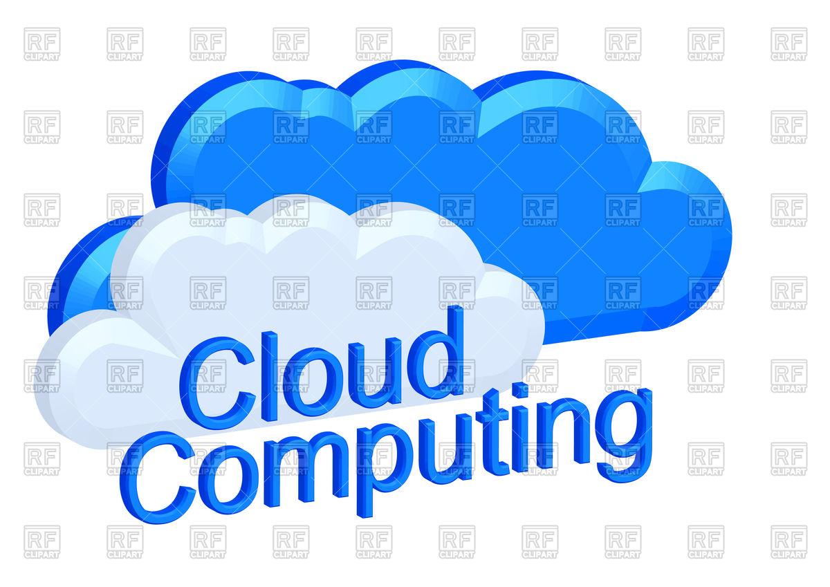 Cloud computing concept Royalty Free Vector Clip Art