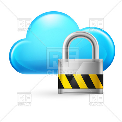 Cloud computing icon with padlock, 6450, download royalty-free vector  vector image ClipartLook.com