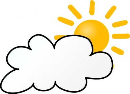 Cloudy Weather clip art Vector clip art - Free vector for free