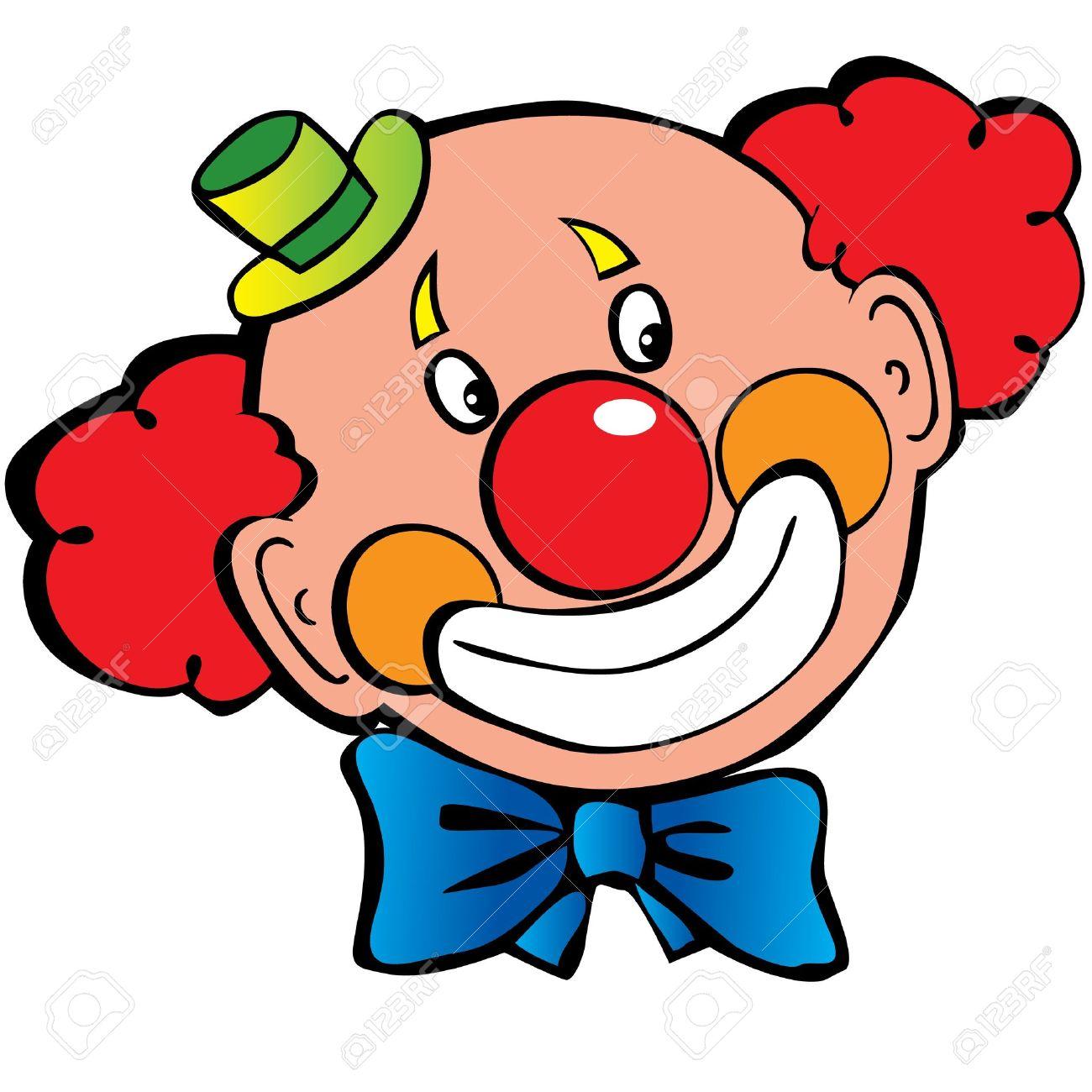 clown face: Happy clown .