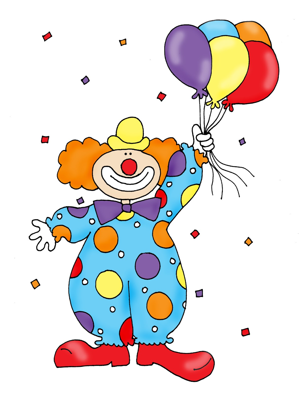 Clown With Balloons Color And ..