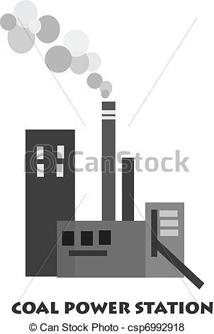 Coal Power Plant Clipart #1