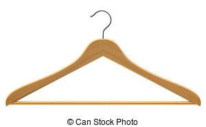 ... Coat hanger isolated on white Coat hanger Clipartby ...