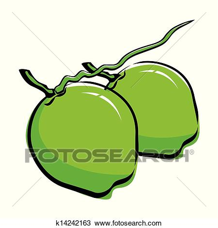 Clipart - Coconut design . Fotosearch - Search Clip Art, Illustration  Murals, Drawings and
