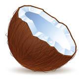Coconut design; Half a coconut