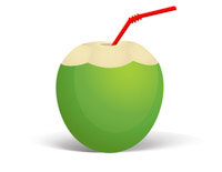 coconut-with-straw-coconut-water-cocktail-01 coconut water clipart. Size:  50 Kb From: Drink and Beverage Clipart