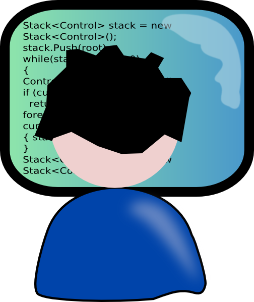 Coder Clipart this image as: