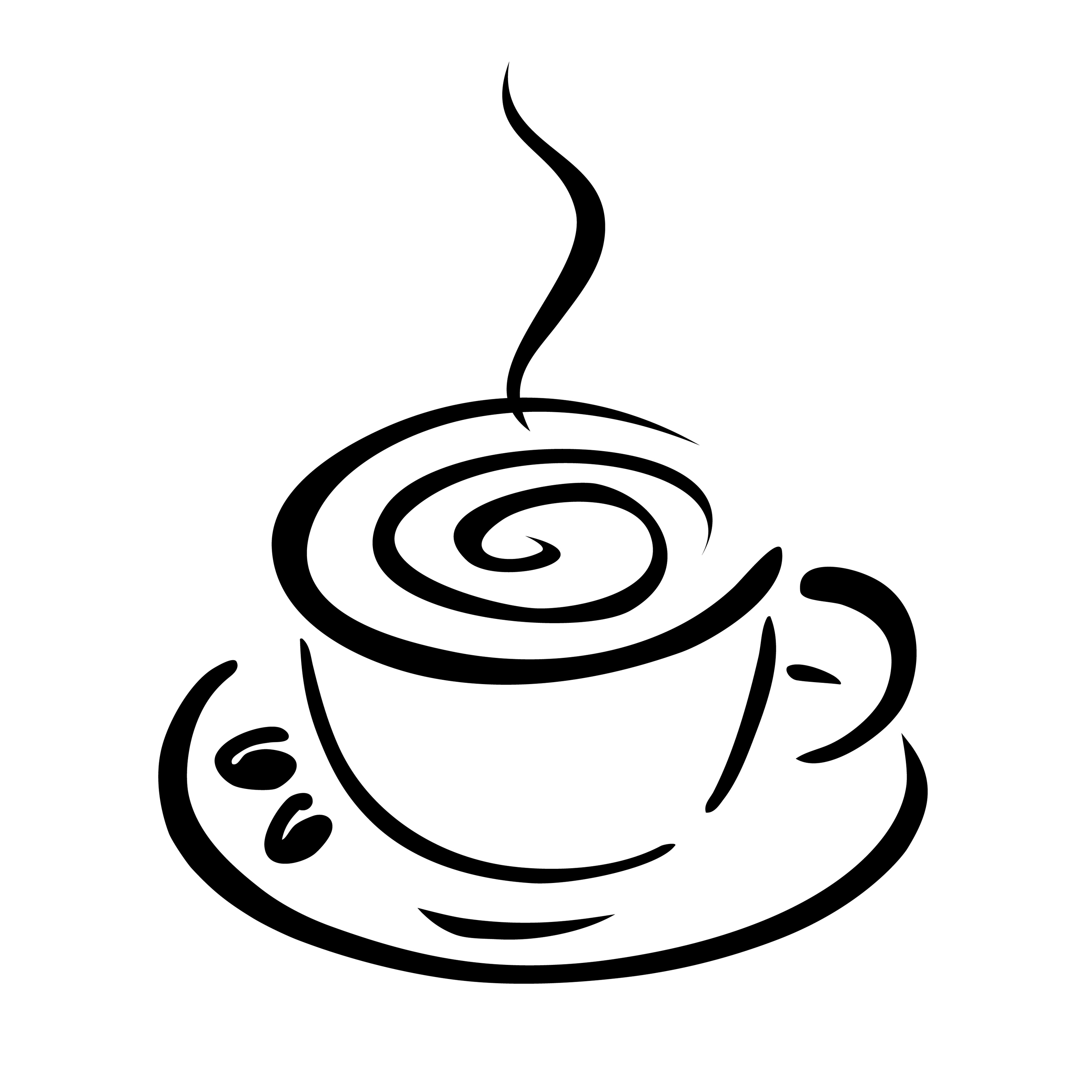 coffee cup clip art black white