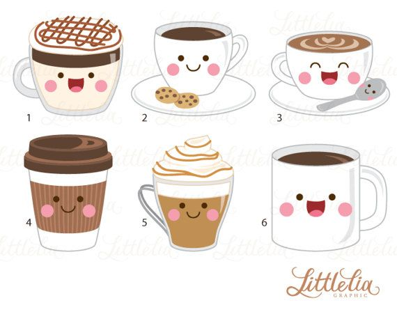 coffee kawaii clipart coffee clipart 17016