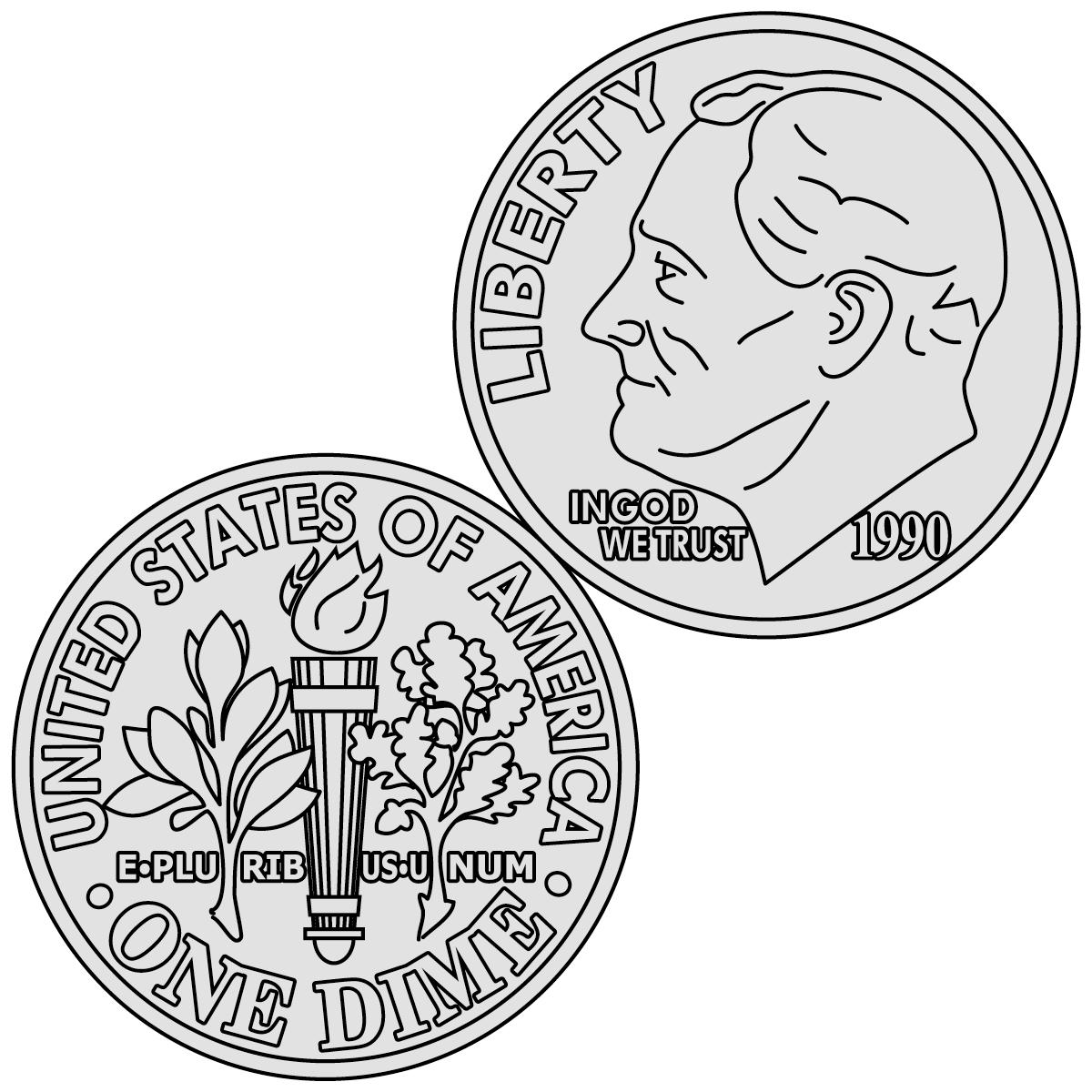 Coin clip art free downloads .