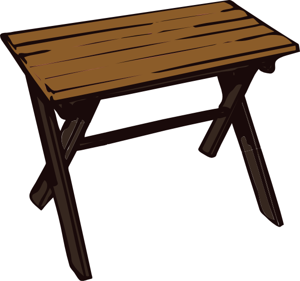 Collapsible Wooden Table Clip Art At Clker Com Vector Clip Art