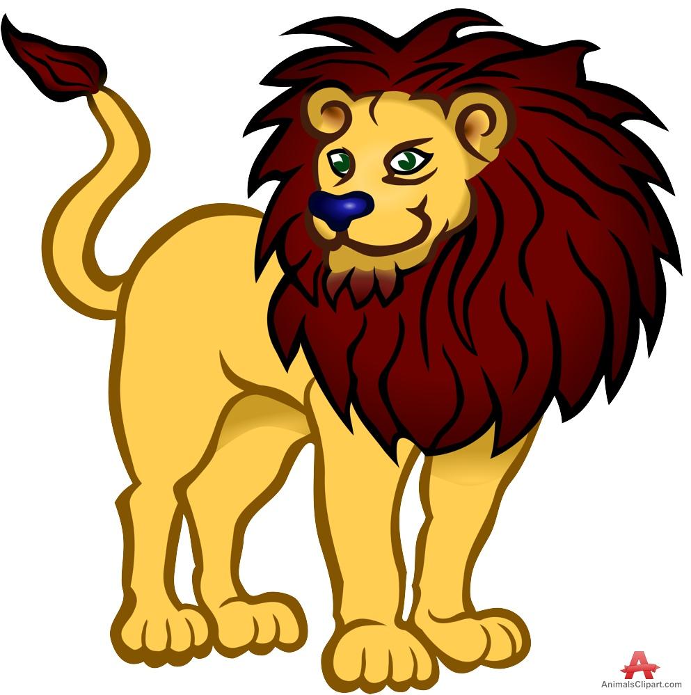 Colored Lion Clipart Design