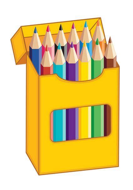 COLORED PENCILS CLIP ART