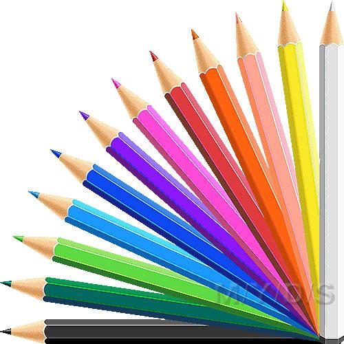 Colored Pencils Clipart Picture Large