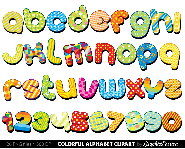 Colorful Alphabet clipart .