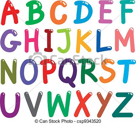 ... Colorful Capital Letters Alphabet - illustration of colorful.