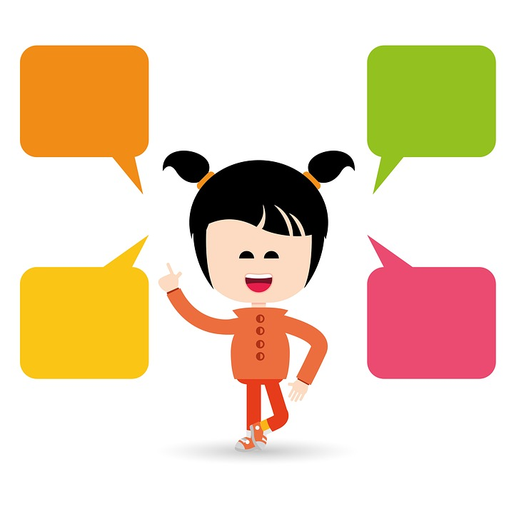 china girls kids colorful clipart chat words