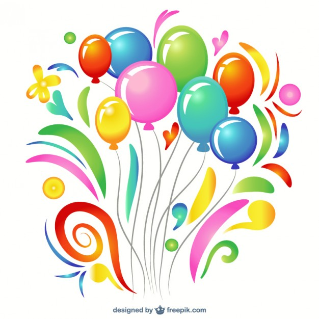 Colorful balloon clip art Free Vector