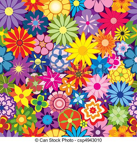Colorful flower background. Colorful seamless repeating. hdclipartall.com vector clipart -  Search Illustration, Drawings and EPS Graphics Images - csp4943010