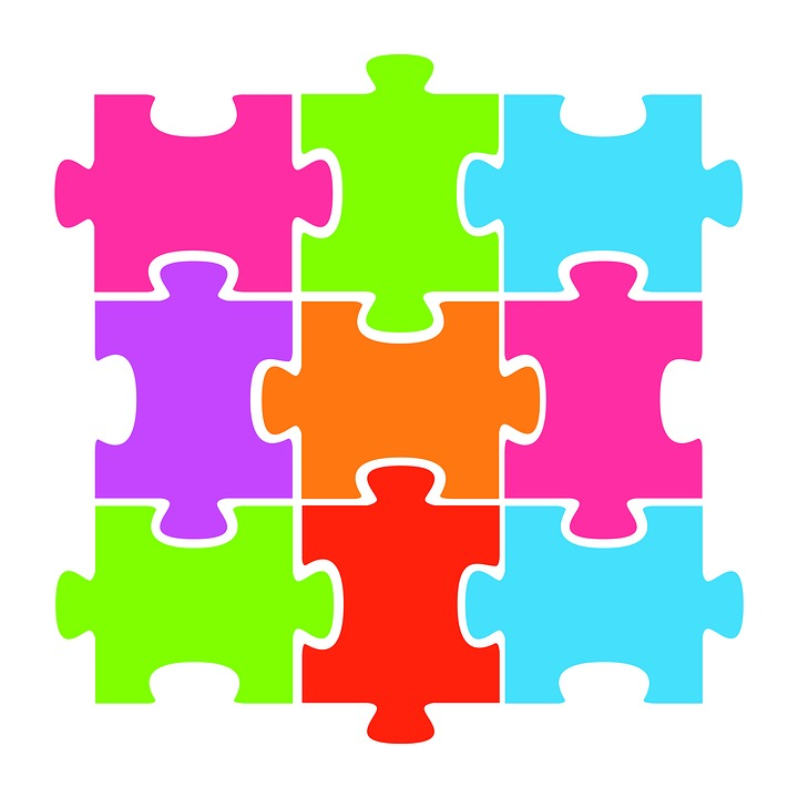 jigsaw puzzle colorful clipart paper