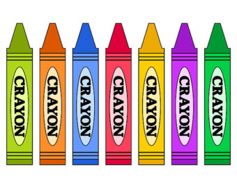 Colorful Crayons Clip Art, School Supplies Clip Art, Digital Clip Art, School Clip Art, Instant Download - YDC043