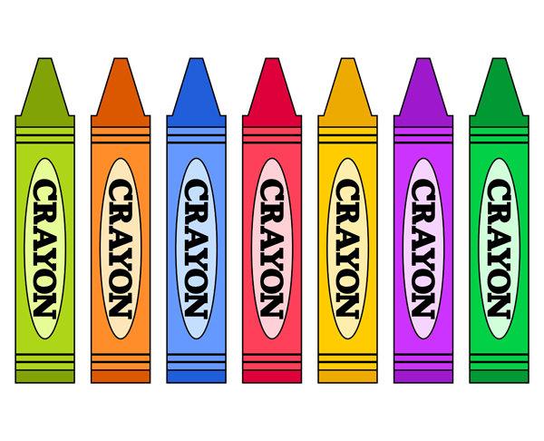 Colorful Crayons Clip Art, School Supplies Clip Art, Digital Clip Art, School Clip Art, Instant Download - YDC043