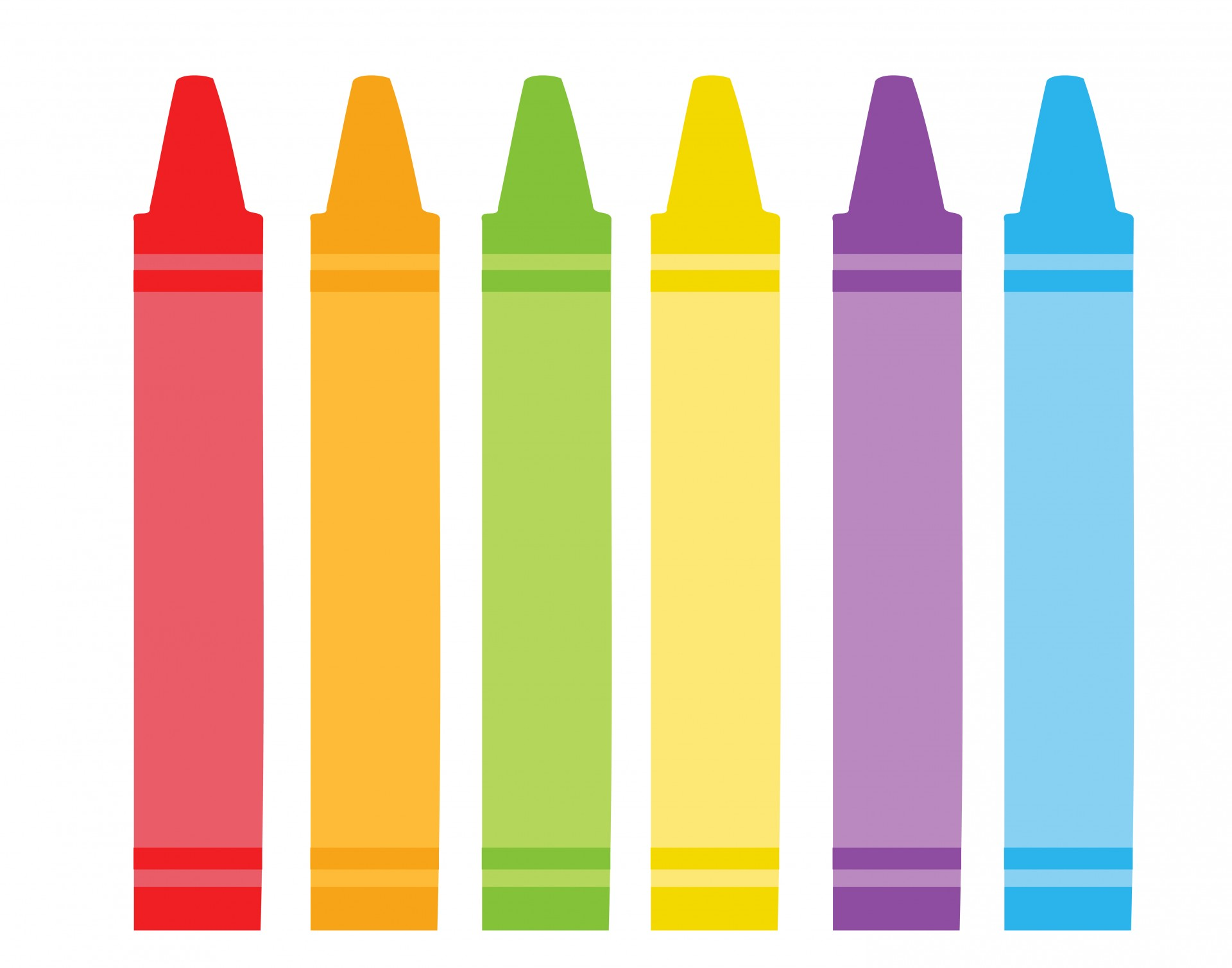 Colorful Crayons Clipart