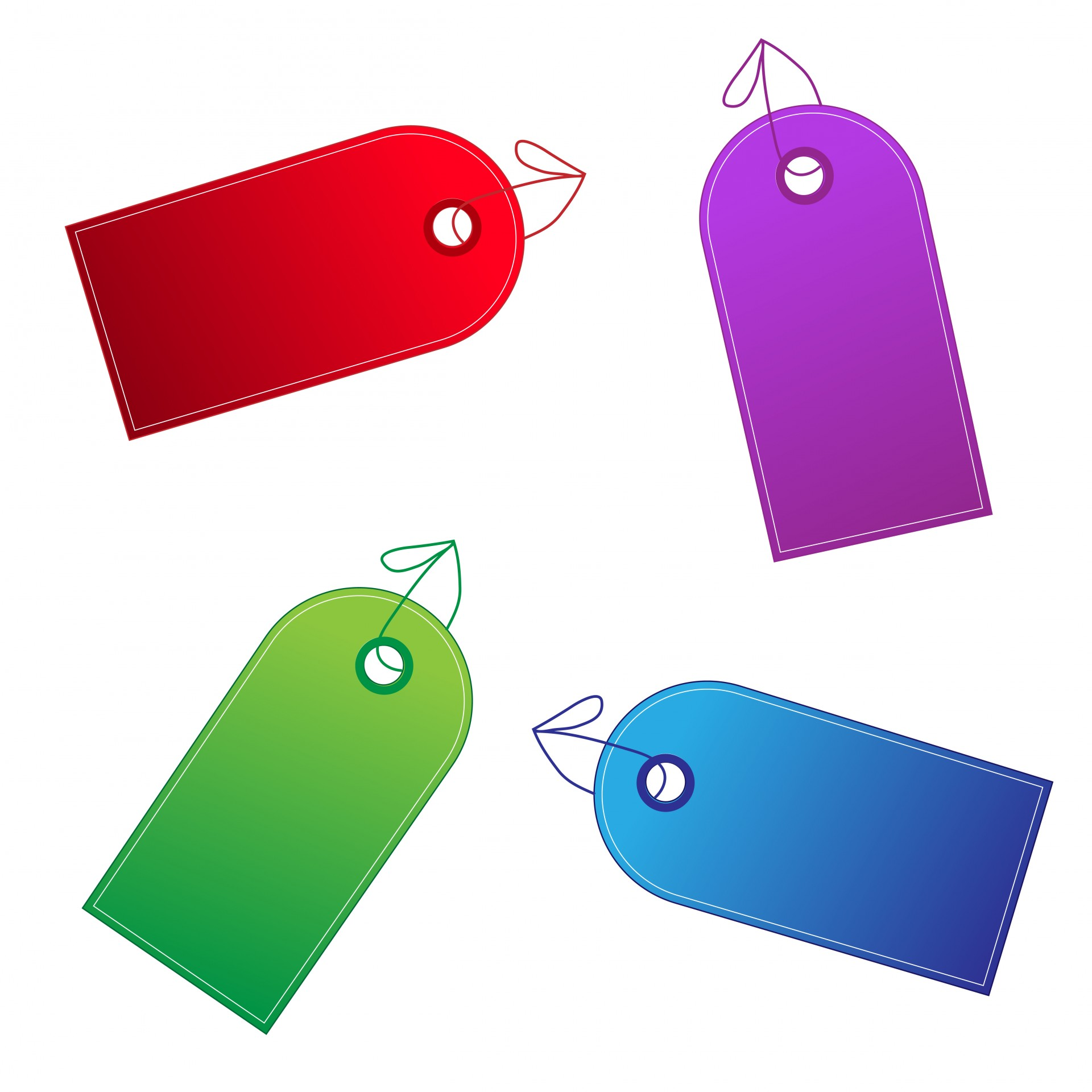 Colorful Designer Gift Tags Colorful Gift Tags ...