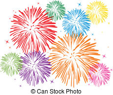 colorful fireworks - vector colorful fireworks on white... colorful fireworks Clipartby ...