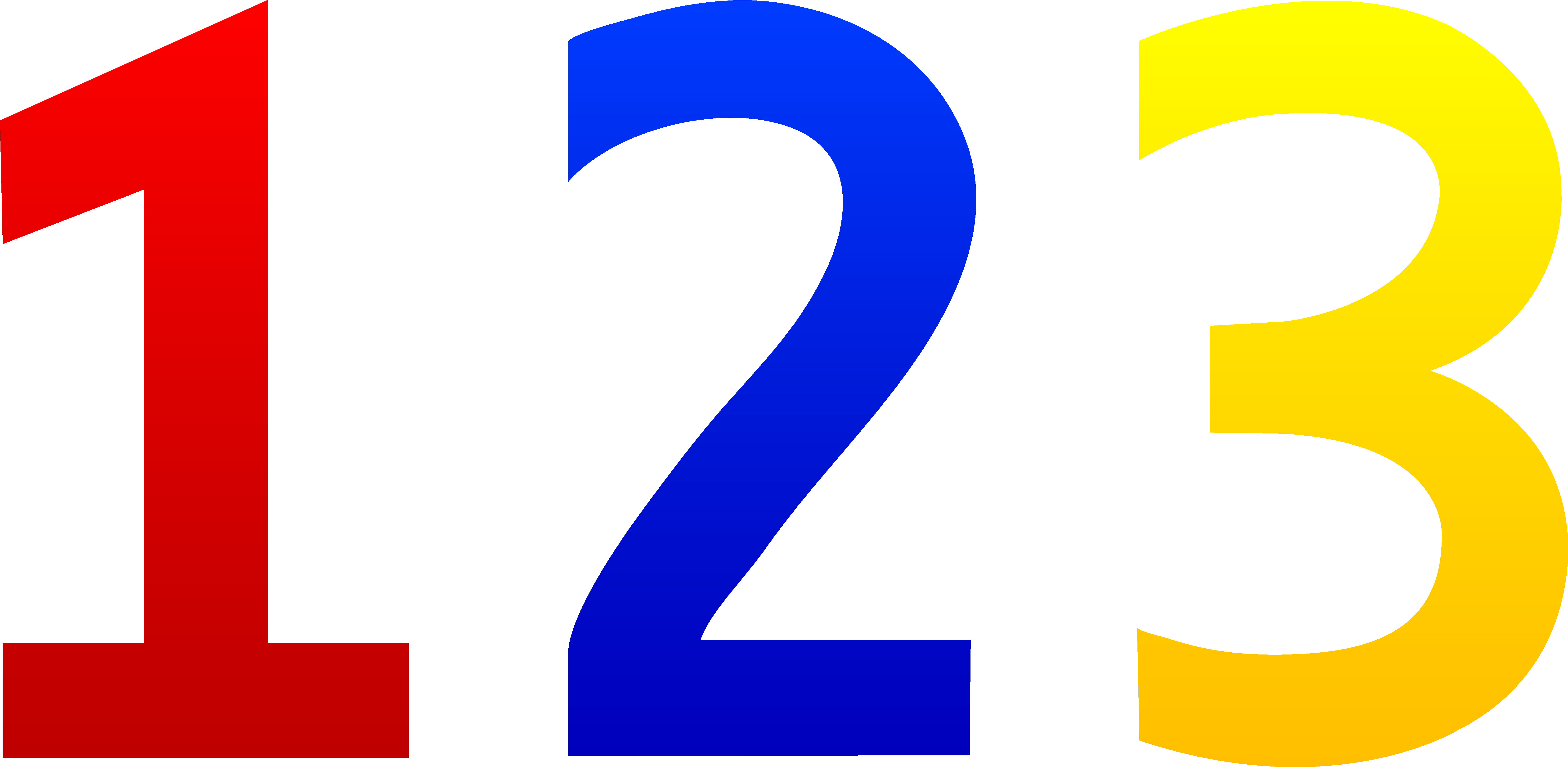 Colorful Numbers 123 - Free Clip Art