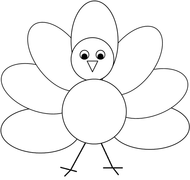 Coloring Or Decorating The Simple Turkey Clipart I Created
