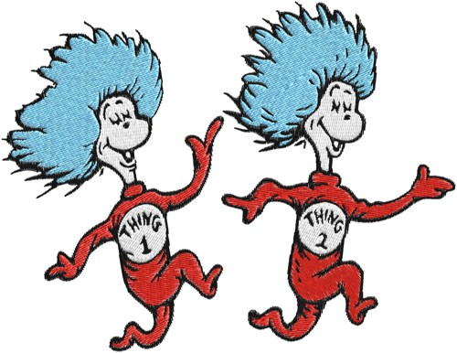 Coloring Pages Thing 1 And Thing 2 Dr Seuss Cat In Hat Thing 1 Thing
