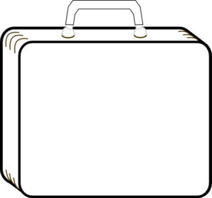 Colorless Suitcase. » suitcase clipart