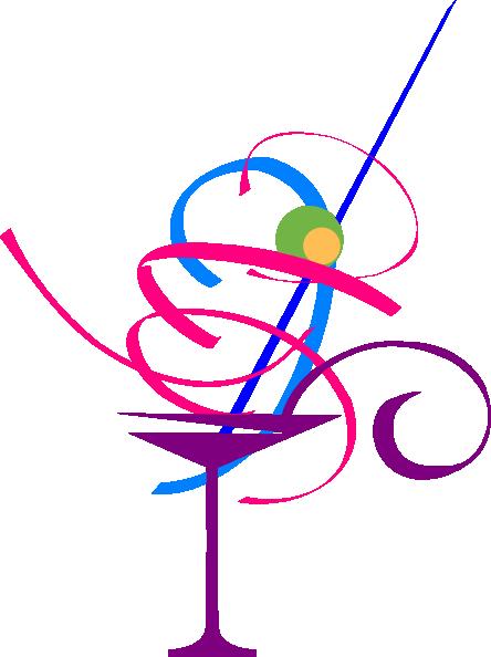 Colourful Cocktail clip art .