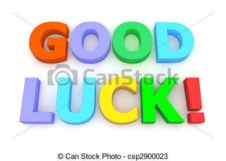 ... Colourful Good Luck - multicoloured letters Good Luck! on.