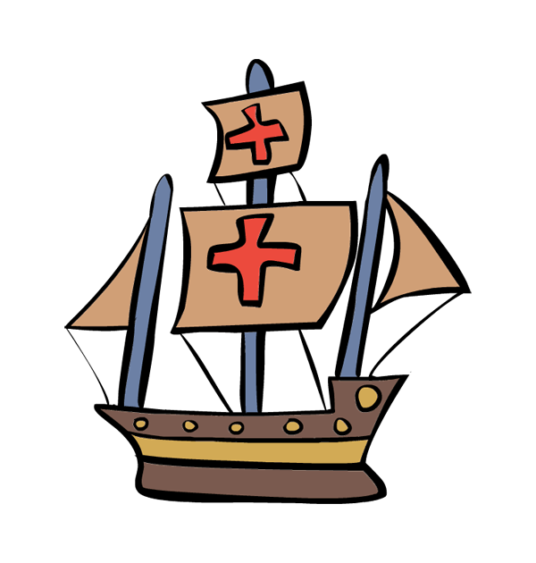 columbus day clipart sail