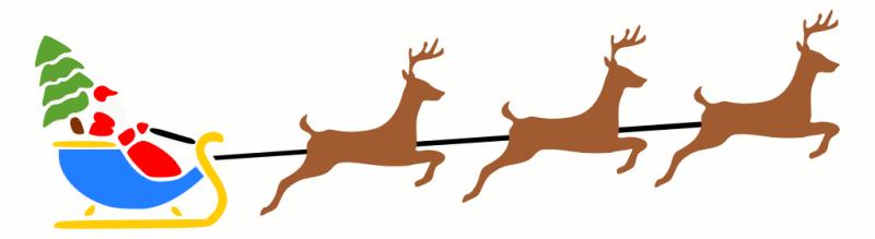 Com Holiday Christmas Santa Santa 2 Santa Sleigh W Reindeer 2 Png Html