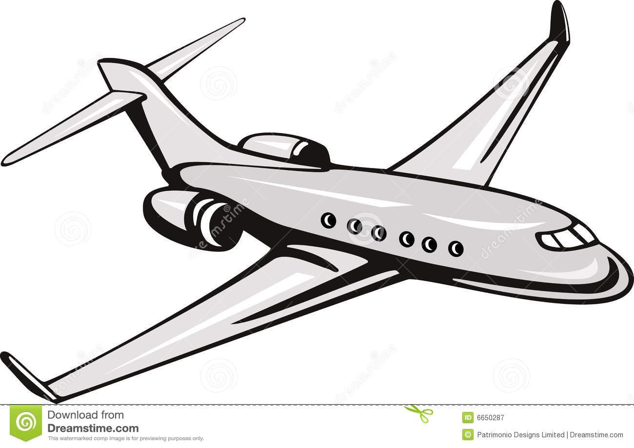 Commercial Plane Clipart #1
